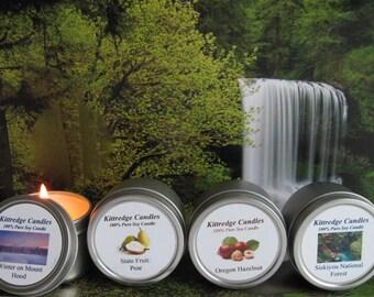 OREGON SAMPLER (four 2-oz soy candles)