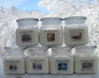 WINTER COLLECTION: One 10-oz Soy Jar Candle (15% discount)
