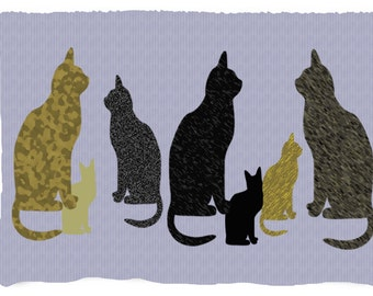 Cats throw blanket from my original art.