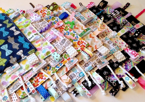 Sensory Rag | Security Blanket | Lap Blanket | Lovey with Tags | You Pick the Fabric