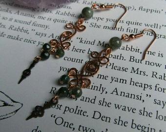 Item 6384 Shades of Green Earrings