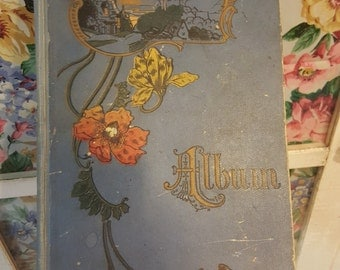 Shabby Antique Victorian Photograph Album from Rustysecrets