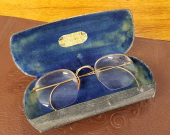 Vintage Double Vision Wire Rimmed Glasses In Case from Rustysecrets