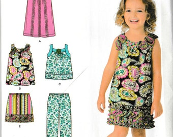 Girls' Dress, Tops, Capri and Shorts Pattern -Simplicity 2238 sizes 3-8