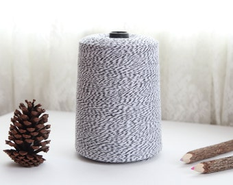 25 Yards BLACK and WHITE Baker's Twine, FREE Shipping with another purchase, String Twine, Bakers Twine, Holiday, Gift, Packaging Twine