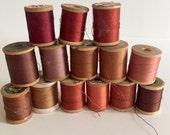 Vintage Wooden Spools of Thread