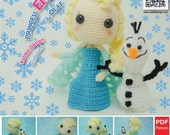 Amigurumi Elsa & Olaf Pattern - PDF