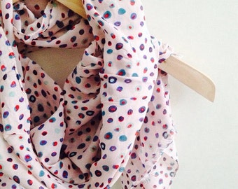 winter sale Pink Soft Circle Cotton Shawl Neckwarmer Fabric Scarf Shawl