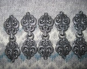 Reclaimed, Recycled set of 5 Sweater Closures - Pewter  Free US Shipping!