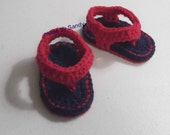 Flip Flop Sandals - baby boy or girl - made to order