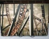 "Fahrenheit at Hersheypark Intamin Steel Roller Coaster 30""x20"" Canvas Print"