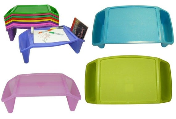SALE - Set of 9 Lap Desks in a Variety of Colors - Perfect for Personalization for the Holidays, party favors and gift bags