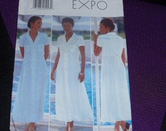 Butterick 4991 Fast and Easy Simi-Fitted, Slightly Flared Dress  Size 12-14-16  New Uncut
