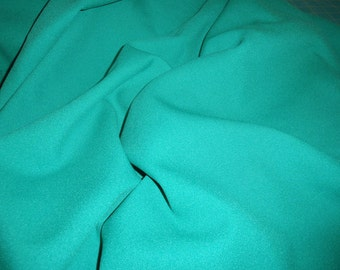 "Kelly Green Rayon Challis Fabric  44"" Wide Sold by the Yard"