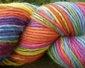 Cheerful Rainbow--4 Ounce Worsted Weight--Wool Mohair blend--Plant Dyed