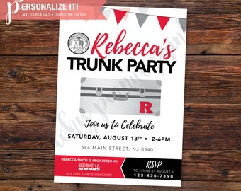 Trunk Party Invitation Going Away College High School Graduation Template // Personalized Printable // Custom Colors // 5x7 -OR- 4x6