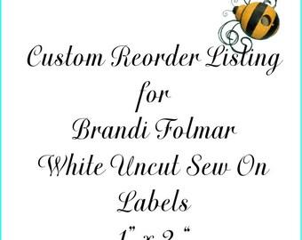 Custom Reorder Listing for Brandi Folmar