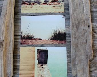 Fine Art Beach Photography , Set of Three 4 X 6 Photos , Coastal Home Decor , Nautical Pictures