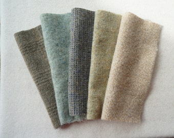 Natural - Neutral - Cream Felted Wool Fabric - Rug Hooking, Wool applique, Quilting, and Sewing by Quilting Acres