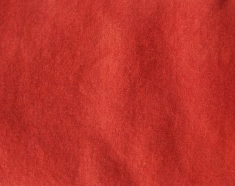 Persimmon - Red  Hand Dyed Felted Wool Fabric - Hand Dyed - - 100% Wool