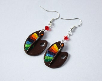 Paint Palette Earrings with Gift Box