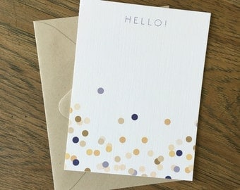 Hello! confetti stationery