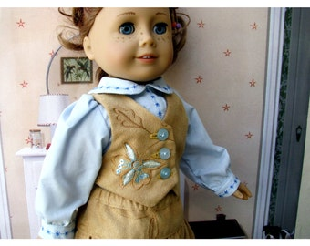 Eighteen 18 Inch Doll Clothes Two Piece Vest and Skirt with Sequins