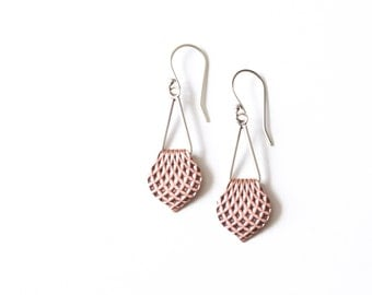 "Lightweight and comfortable copper and sterling silver earrings, a design where old world meets modern - ""Small Alhambra Earrings"""