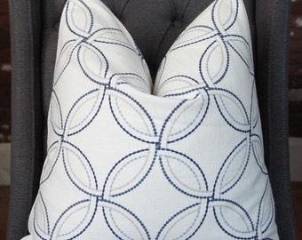 Blue Pillow Cover, Decorative Pillow, Throw Pillow, Sofa Pillow, Toss Pillow, Blue Geometric, Home Furnishing, Home Decor, Pillow Case