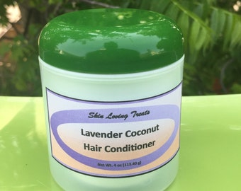 Lavender Coconut Hair Conditioner - Natural Hair Care - Handmade