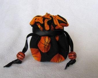 Jewelry Bag with Basketball Beads - Mini Size - SLAM DUNK BASKETBALL