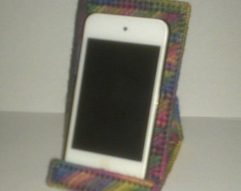Handmade Cell Phone or Ipod Holder Plastic Canvas Artist Print Color
