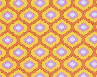 Free Spirit Dena Designs Pretty Little Things-Ella-Orange- PWDF126   1 YARD CUT