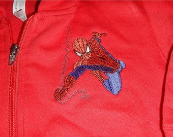 Hoodie zippered sweatshirt   ' FREE SHIPPING - your choice of design - machine embroidered