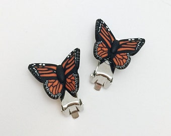 butterfly clip ons etsy