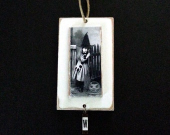 Witch Ornament Halloween Vintage Image