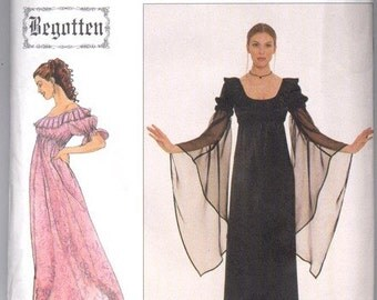 Simplicity 8619  Size N (10,12,14)  Begotten Misses Dress.   1990's Sewing Pattern