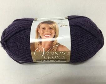 Lion Brand Vanna's Choice Yarn - Purple - 3.5 oz/100 g