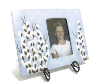 Hand Painted Pussy Willow Picture Frame
