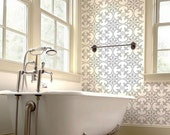 Fabiola Tiles Stencil - Size: Large - Wall Stencils for Cheap Room Makeover