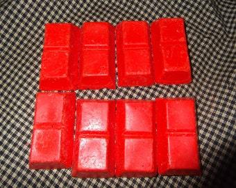 Orange candle dye blocks