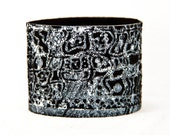 Black Leather Jewelry Cuff Bracelet - 2016 Etsy Finds Gift Ideas For Her - Bohemian Gypsy Fashion -