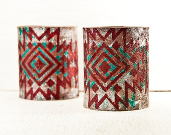 Festival Tribal Boho Cuffs Wristbands - Creative Bracelets Inspired Leather Jewelry - Tattoo Cover