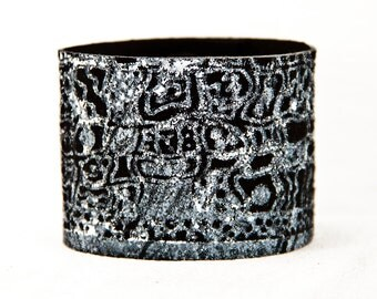 Black Leather Jewelry Cuff Bracelet - 2016 Etsy Finds Gift Ideas For Her - Bohemian Gypsy Fashion