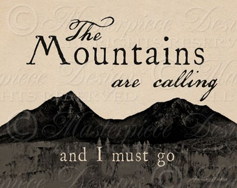 The Mountains Are Calling - Peaks of Otter 8x10 Inch Digital Print / Ready To Frame / Printable Instant Download / Digital Sheet