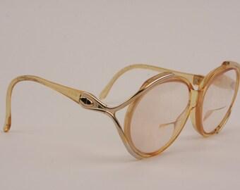 Vintage Christian Dior Sunglasses 1970s Designer Big Frame Eyewear Glasses