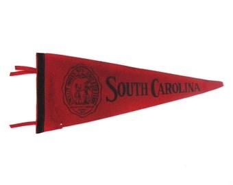 Vintage University of South Carolina Gamecocks Pennant