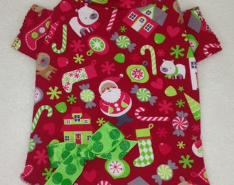 Christmas Blessings Dog TShirt Clothes Size XXXS through Medium by Doogie Couture