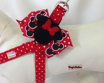 Quick and Comfy Minnie Mouse Inspired Step In Dog Harness Size XS through Medium by Doogie Couture