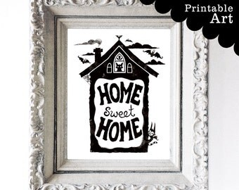 Home Sweet Home Printable Artwork - Instant Download